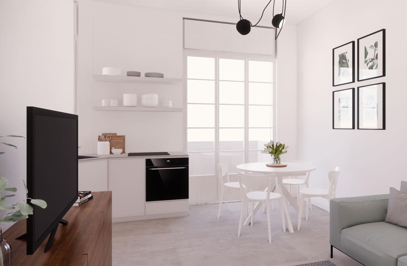 Appartamento Cenisio – soggiorno