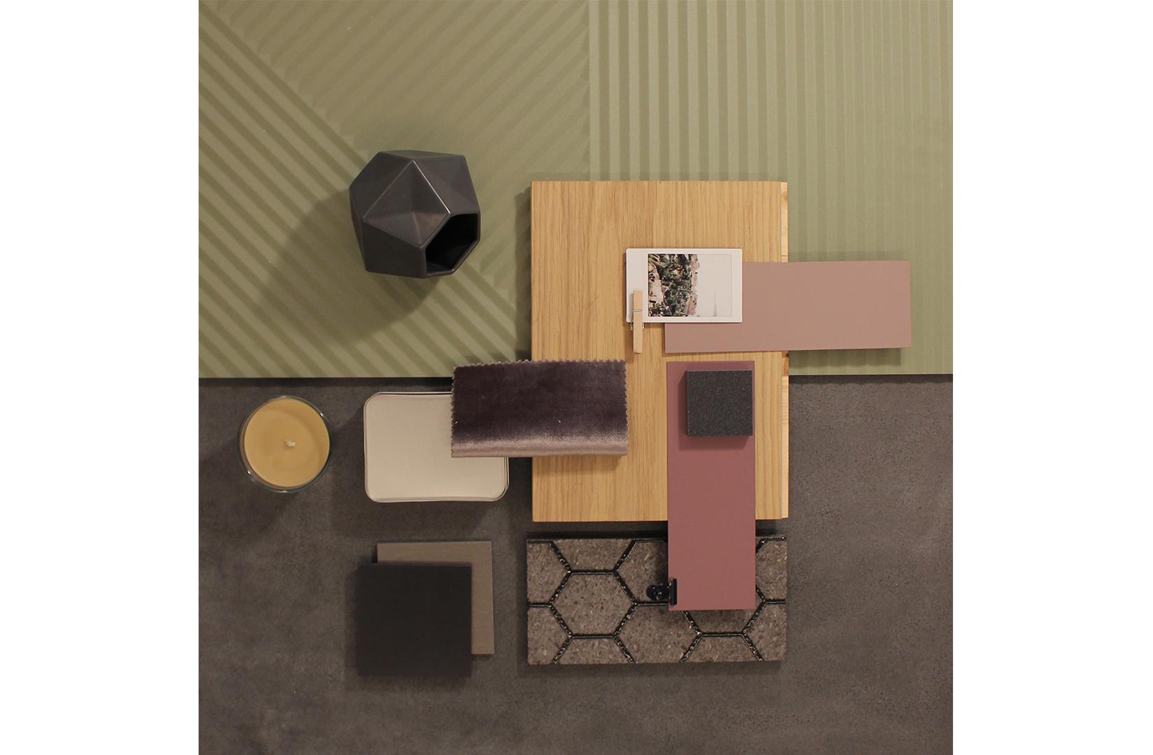MS Architetti_Moodboard Black & Green